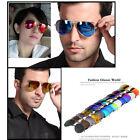 Retro Vintage Oversized Round Frame Metal Women Reflective Sunglasses Goggles FE