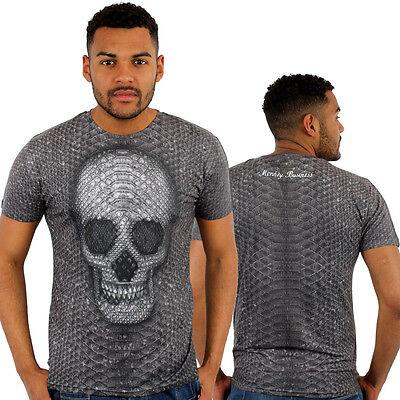 Monkey Business Snake Skin Skull 3D Print Fitted T-Shirt