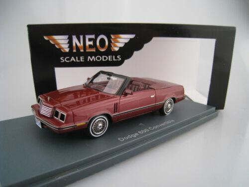 Dodge 600 Cabriolet  NEO  1:43  OVP