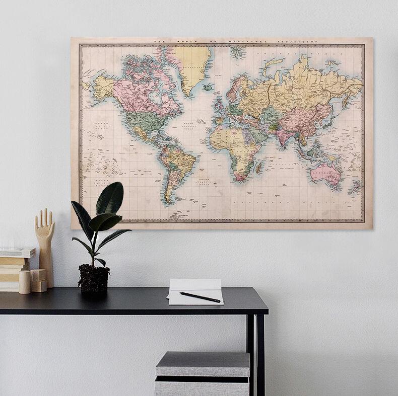 3D Karte 62 Fototapeten Wandbild BildTapete Familie AJSTORE DE