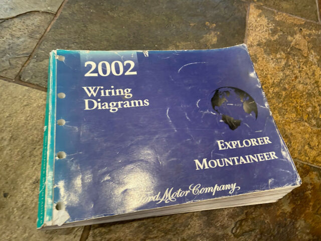 2002 Ford Explorer Mercury Mountaineer Wiring Diagrams Electrical Service Manual