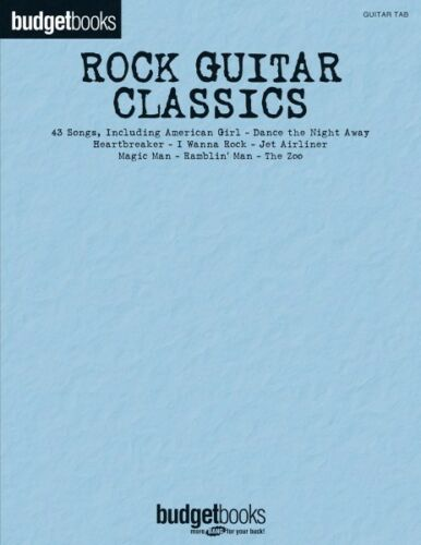 Rock Guitar Classics Budget Book Sheet Music Guitar Tablature Book NEW 000691038