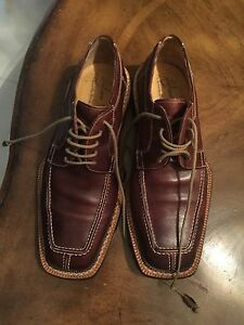 mens brown leather vero cuoio casual dress shoes 42 size