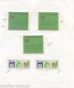 GERMANY-CHURCHES-amp-CASTLES-SET-BOOKLET-amp-VARIETIES-AS-SHOWN