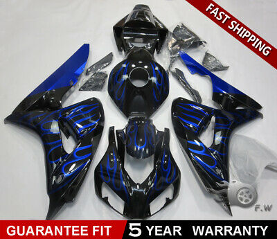 Black with Red Aftermarket Full Complete Painted Fairing Injection Bodywork ABS Plastic Molding Kit w//Tank Cover for 2006-2007 Honda CBR1000RR CBR 1000 RR 1000RR Windshield /& Heat Shield as