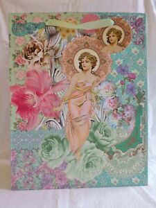 Art-Deco-Mujer-Bolsa-de-Papel-para-Regalo-Cumpleanos-Madre-Dia-Aniversario