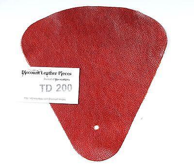 Sangria Red Scrap Leather Craft Piece aprox .25 sqft  TD198