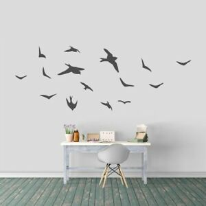 Details About Flying Birds Wall Decal Set Animals Hunting Sports Kids Art