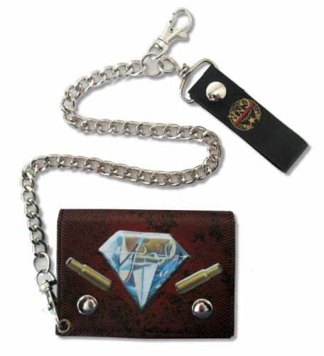 GUNS N ROSES HOW ARE YOU GRENADE DIAMOND LOGOS BLK CHAIN WALLET OFFICIAL