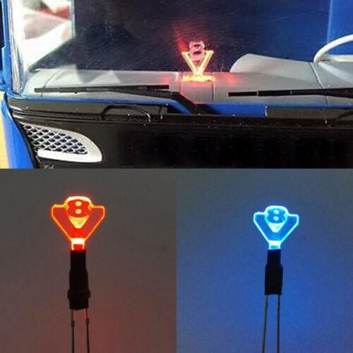V8 Logo LED Licht Lampe für 1//14 RC Tamiya SCANIA R620 56352 Man Traktor LKW