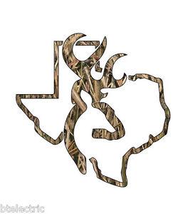 Camo Texas Deer Hunting Realtree Decal Window Sticker