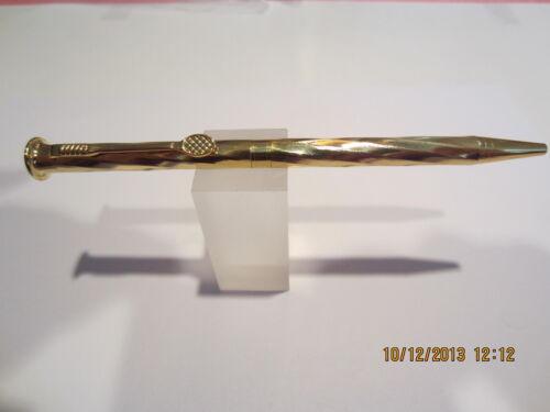 Velvet Pouch Terzetti Tennis Gold Swirl Pattern Ballpoint Pen