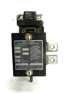 current relay allen bradley automotive wiring diagramsallen bradley, instantaneous current relay, cat no 809 a02e, 600image is loading allen