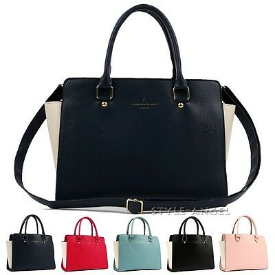 New Women Tote Cross Body Shoulder Handbag Ladies Purse Faux Leather Hobo Bag
