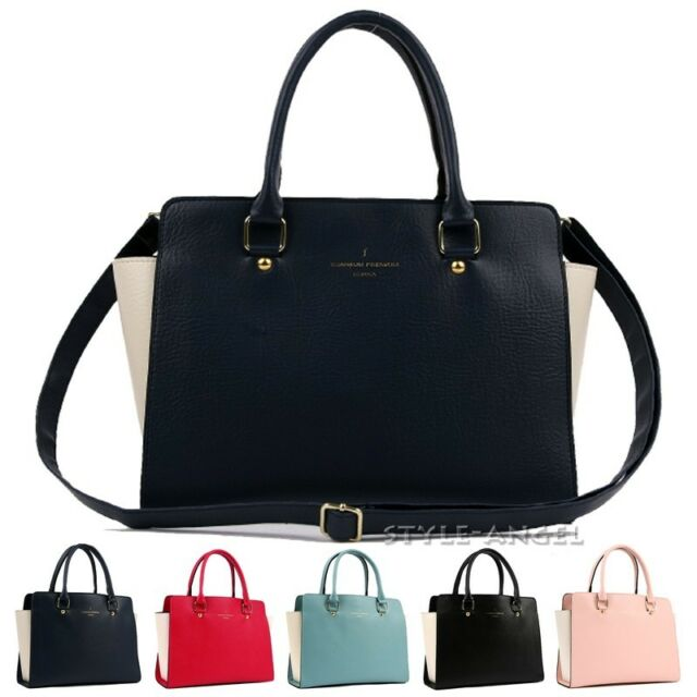 New Women Tote Cross Body Shoulder Handbag Ladies Purse Faux Leather Hobo Bag