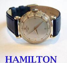 Vintage 14K HAMILTON Mens Winding Watch 1950s CAl 735* EXLNT Condition* SERVICED