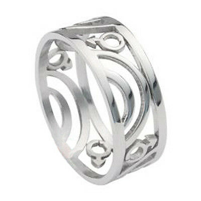 Pride Shack - Mars / Male Symbol Carved Ring - Men's Gay Pride Steel Ring