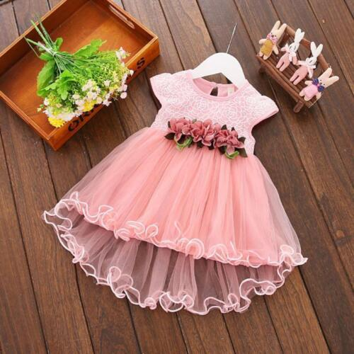 Toddler Baby Kids Girls Summer Floral Dress Princess Party Wedding Tulle Dresses