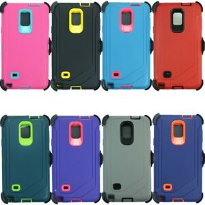 Details about For Samsung Galaxy Note 4 Case Full Cover w/(Belt Clip Fits  OtterBox Defender)