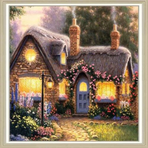 Cottage Casa Fai da te Diamond PITTURA MOSAICO KIT FOTO