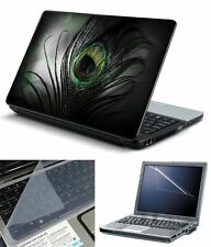 laptop skins Feather With Screen Guard and Key Board Protector (3in1 Combo)15.6""