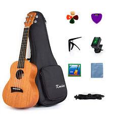 Ukulele Concert Ukelele 23 Inch Uke Hawaiian Hawaii Guitar Mahogany w/ Bag Tuner