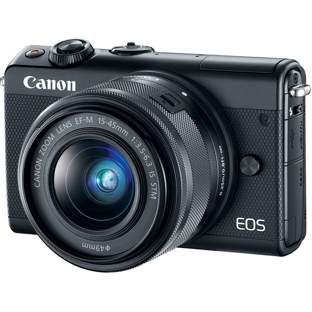 Canon Eos M100 242mp Digital Camera Black Kit W Ef M Is Stm 15 M3 M15 45mm Kamera Mirrorless Norton Secured Powered By Verisign
