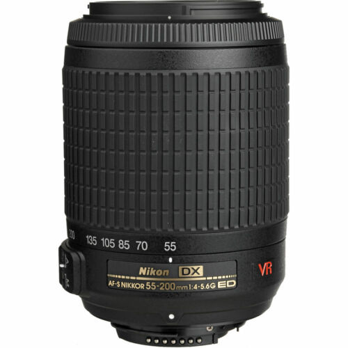 1 of 1 - Nikon AF-S DX VR Zoom-Nikkor 55-200mm f/4-5.6G IF-ED Lens, Brand New  - USA