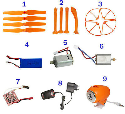Blade,Landing Gear,Protective Frame,Battery,Motor,Charger,CAM For Syma X8C X8W