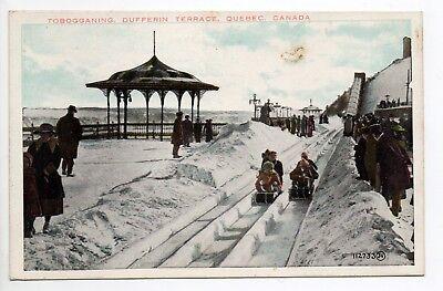 CANADA carte postale ancienne QUEBEC toboggan et luge d'hiver dufferin terrace | eBay
