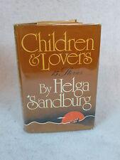 Helga Sandburg  CHILDREN & LOVERS Harcourt, Brace and Jovanovich c. 1976 HC/DJ