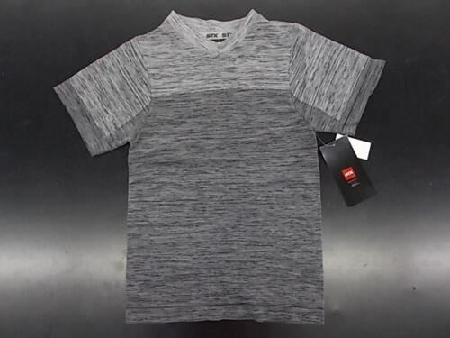 Boys STX $34 Black /& Gary Heather Wicking Shirt Size 8//10-16//18