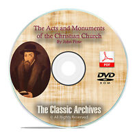 Foxes Acts & Monuments, Book Of Martyrs, Ebook Audiobook Christian Bible Dvd F30