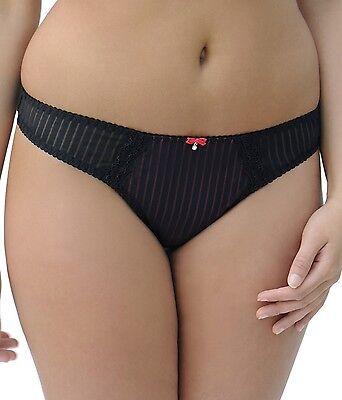 Curvy Kate Ritzy Thong SG2102 New Womens Lingerie Black//Blush