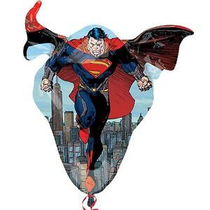 Superman-31-034-SuperShape-Foil-Balloon-DC-Superhero-Birthday-Party-Decorations