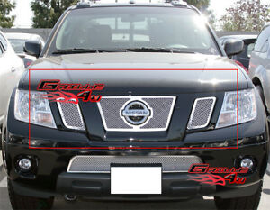 Details About Fits 2009 2020 Nissan Frontier Stainless Mesh Grille Insert