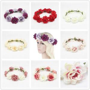 Femme-Fleur-Bandeau-MarieE-Mariage-Cheveux-Bandes-Accessoires-Filles-BoheMe-Garl