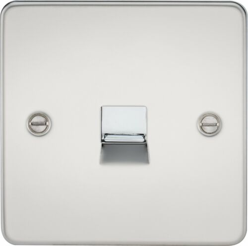 Knightsbridge Flat Plate Telephone Extension Secondary Wall Single Socket Outlet