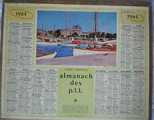 calendrier  Almanach des  PTT année 1964 Anniversaire  Saint Malo en photo