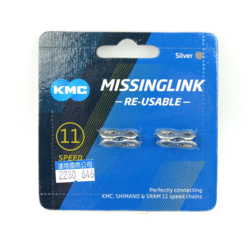 Silver KMC CL555R 11 Speed Re-Usable Bike Bicycle Cycling Chain Missing Link