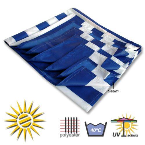Seilspannmarkise blau weiss ca 270x275 cm Pergola Komplett Set mit 20 Laufhaken