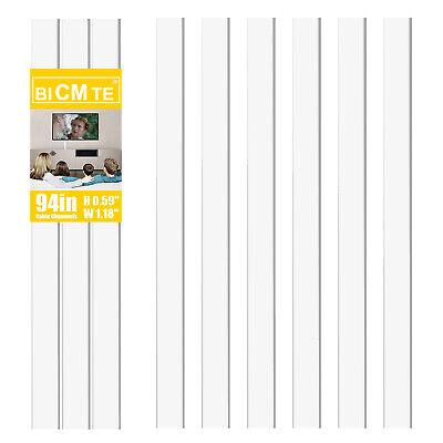 Surface Cable Raceway or Corner Concealer Black White-EZ Hidewire Wire Duct