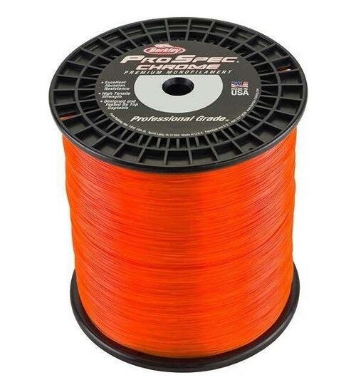 Berkley ProSpec Chrome Premium Mono Fishing Line 50 lb Test 2850 Yd Blaze arancia