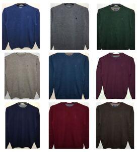 Men-039-s-Nuevo-McNeal-Pura-Lana-De-Cordero-Jumper-Sueter-de-punto-en-24-Colores-Todos-los-Tamanos