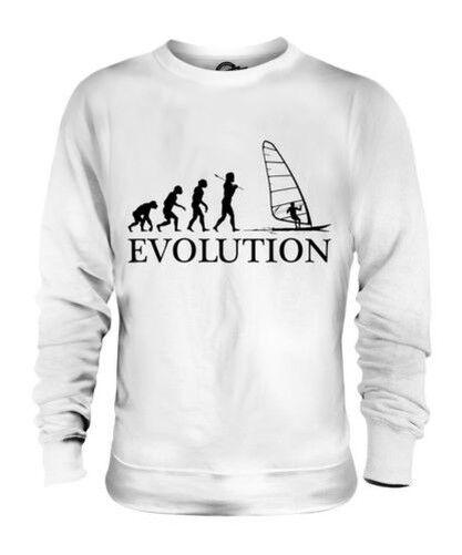 Windsurf Evoluzione Umana Unisex Maglione  Herren Damenschuhe Abbigliamento Regalo