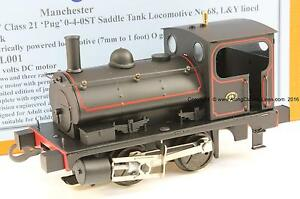Along-Classic-Lines-ACL001-Gauge-O-coarse-scale-039-Pug-039-0-4-0-tank-loco-L-amp-Y-Black