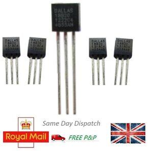 1-5pcs-DS18B20-Digital-Temperature-Sensor-Chip-Dallas-TO92-Thermometer-Thermal