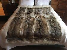 Unique Coyote Fur Bedspread/Throw