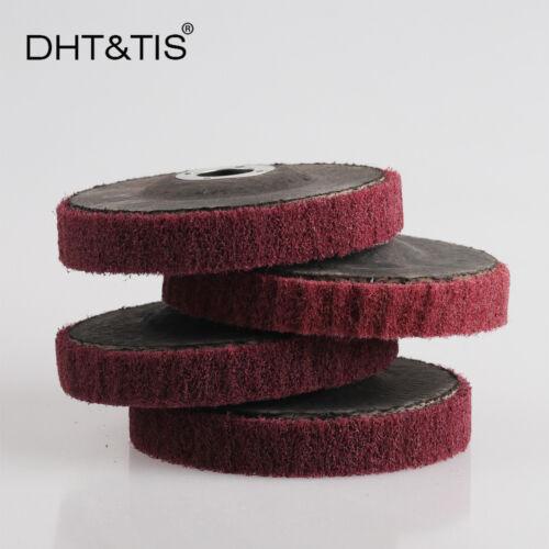 4pcs 100*16mm Fine Fiber Sanding Disc Polishing Grinding Wheel Angle grinder