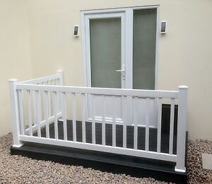Image Is Loading Plastic Balustrade Patio Decking Fencing Panels Or Posts